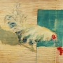 "Dethroned, Mixed media on canvas, 2013, 39"". 59"""